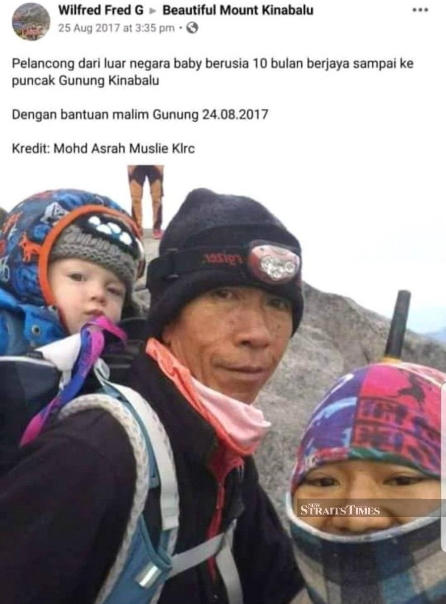 Many toddlers have reached Mount Kinabalu summit, say mountain guides