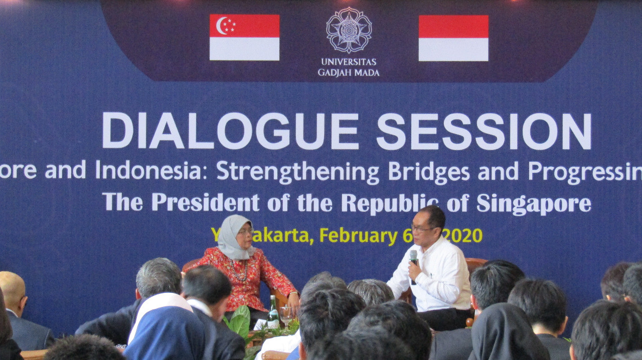 Halimah Yacob wants Indonesian, Singaporean youths to strengthen ties