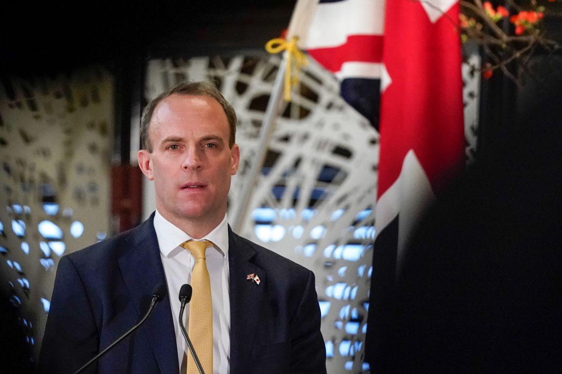 Dominic Raab seeks 'ambitious' Japan-Britain trade deal
