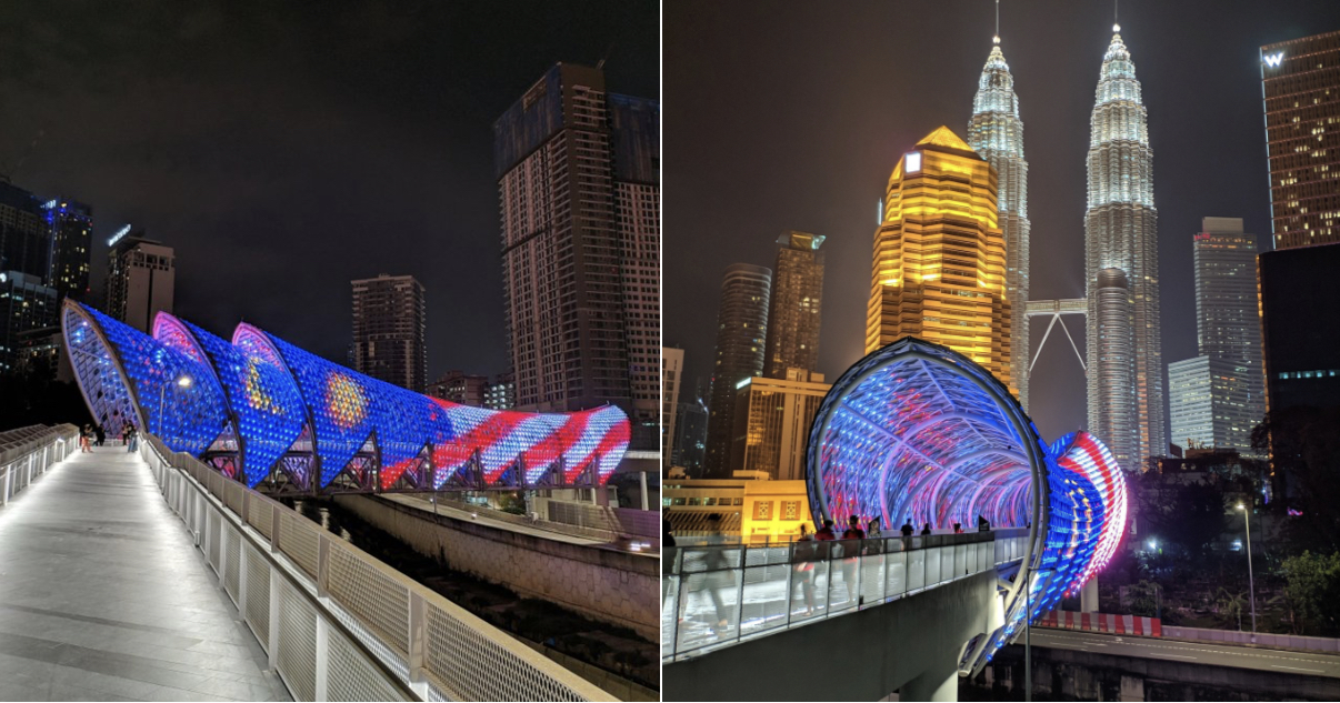 This Beautiful Bridge in KL is Now Open, Connects Kampung Baru and Jalan Ampang