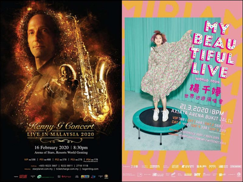 Kenny G, Miriam Yeung concerts in KL to move to new dates