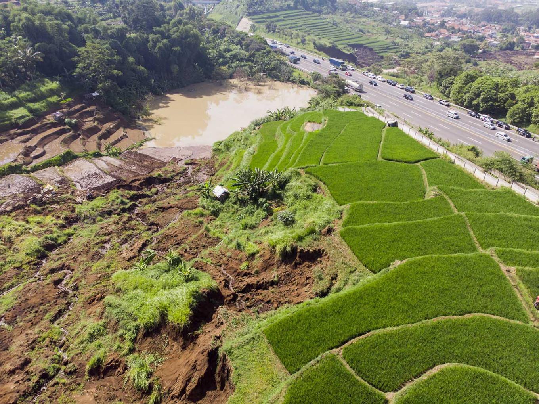 West Bandung landslides put Cipularang toll road at risk