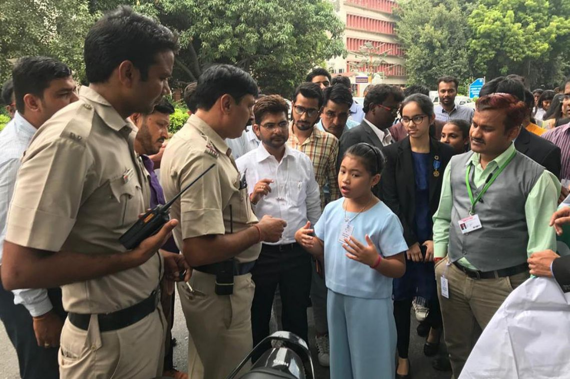 One year on, child climate activist, 8, continues strike outside Indian parliament