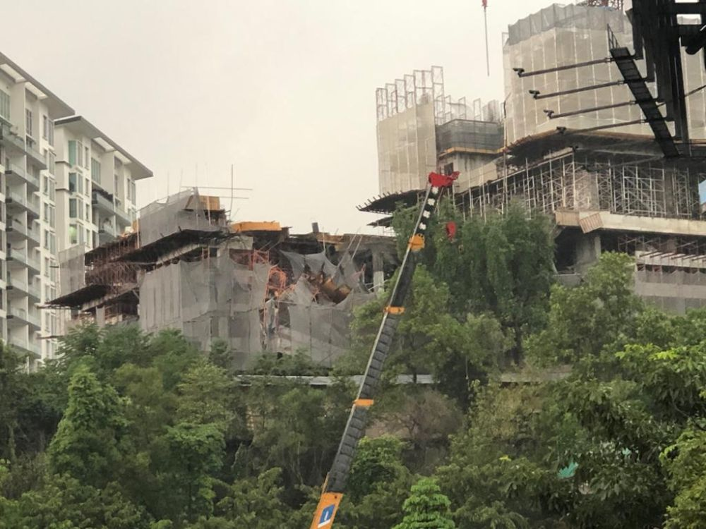 Partially built condo in Taman Desa collapses, three believed trapped