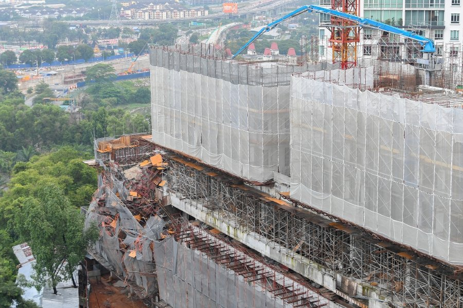 Khalid: Taman Desa condo collapse not caused by rain or landslide
