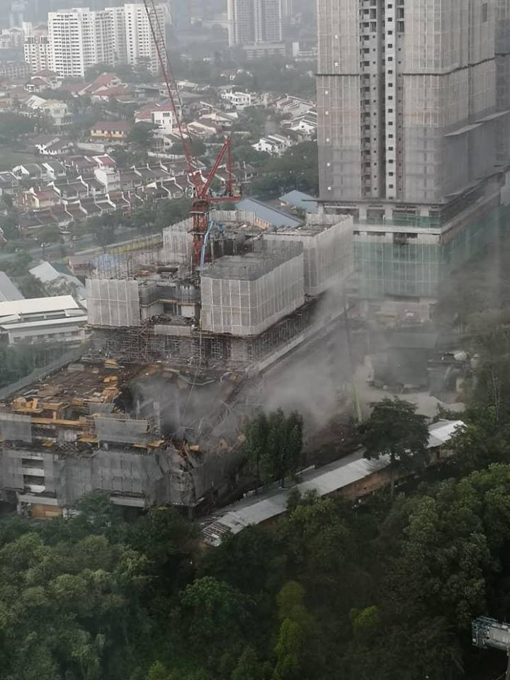 隆市兴建中公寓坍塌事故 或因建筑结构失误导致