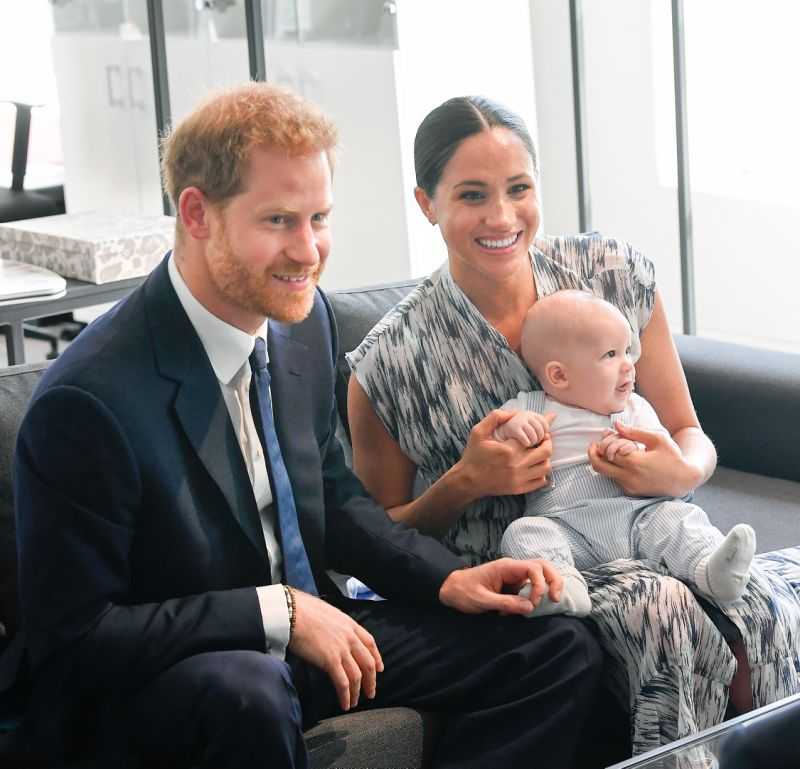 Detail you might not have noticed as Meghan read to Archie in first birthday video