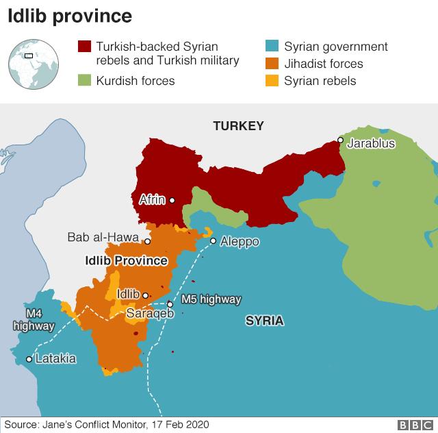 Syria war: Strikes on Idlib 'target schools and hospitals'
