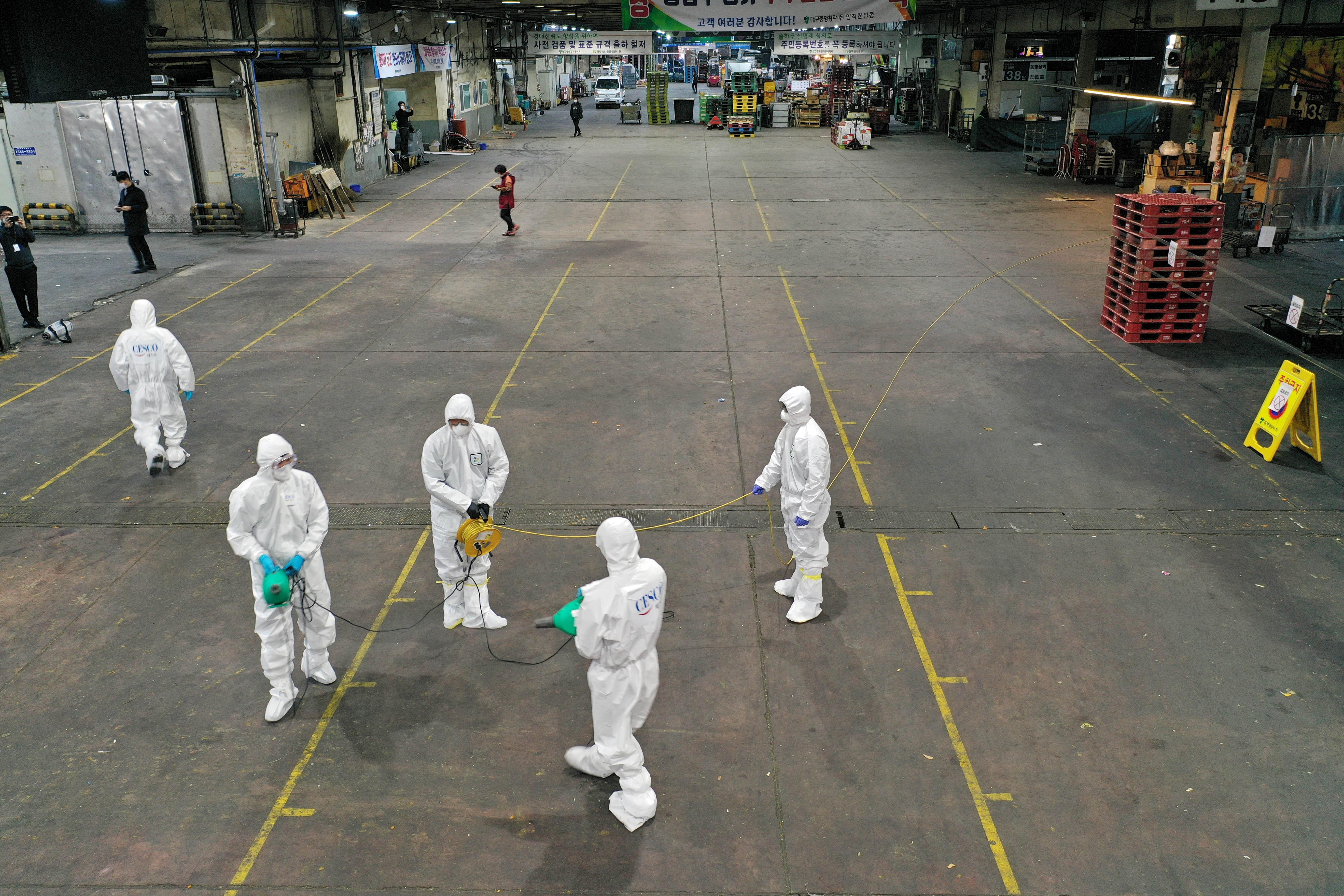 【冠状病毒19】韩国周一新增病例达600起 累计突破4800
