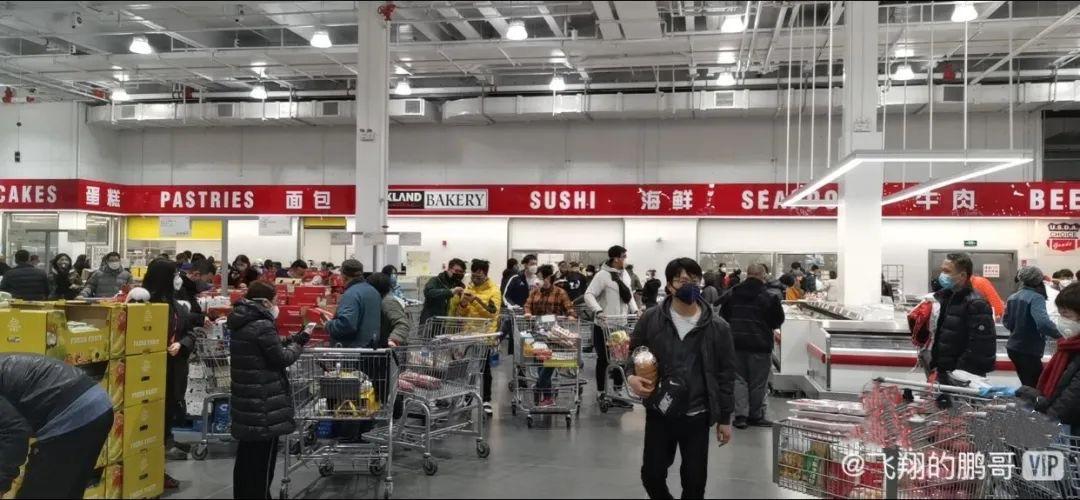 疫情还未过去 上海Costco又开始大排长龙了!(组图)