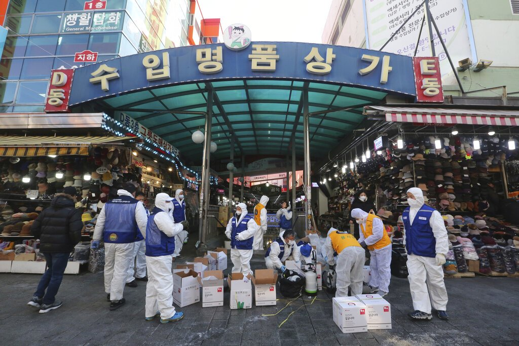 South Korea reports 123 more Covid-19 cases, 2 deaths