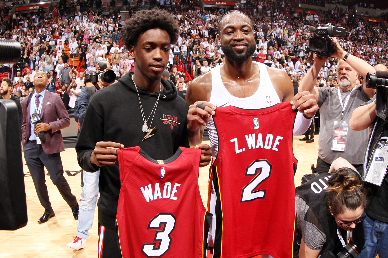 Dwyane Wade Is 'Not Taking a Backseat' in Son Zaire's Basketball Career: 'I'm Trying to Help Him'