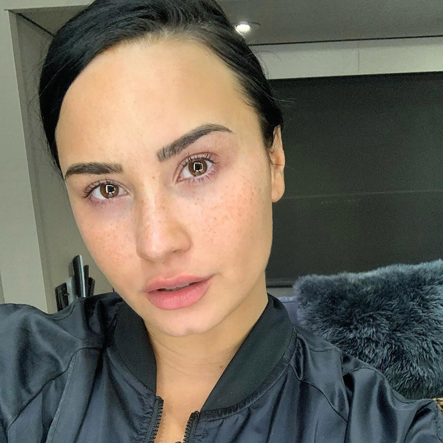 Demi Lovato Goes Makeup-Free in Glowing Bareface Selfie, Says She's 'Proud of My Booty Chin'