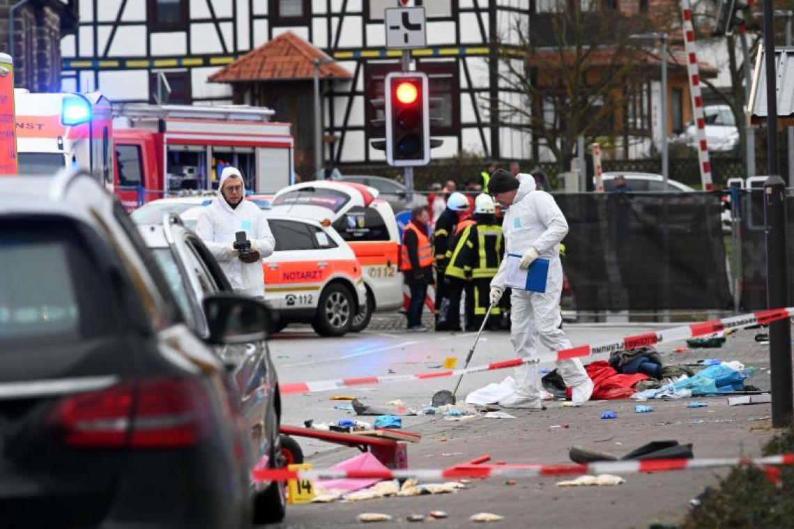 Dozens hurt as car ploughs into German carnival parade; suspect arrested