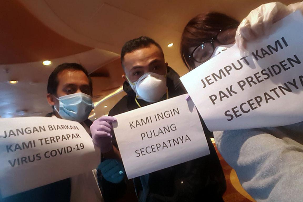 Indonesian crew from virus-hit Diamond Princess to arrive home on Sunday