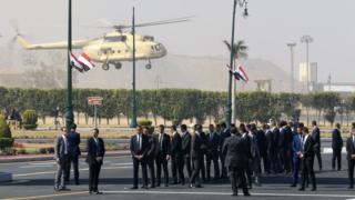 Hosni Mubarak: Egypt holds military funeral for ousted president