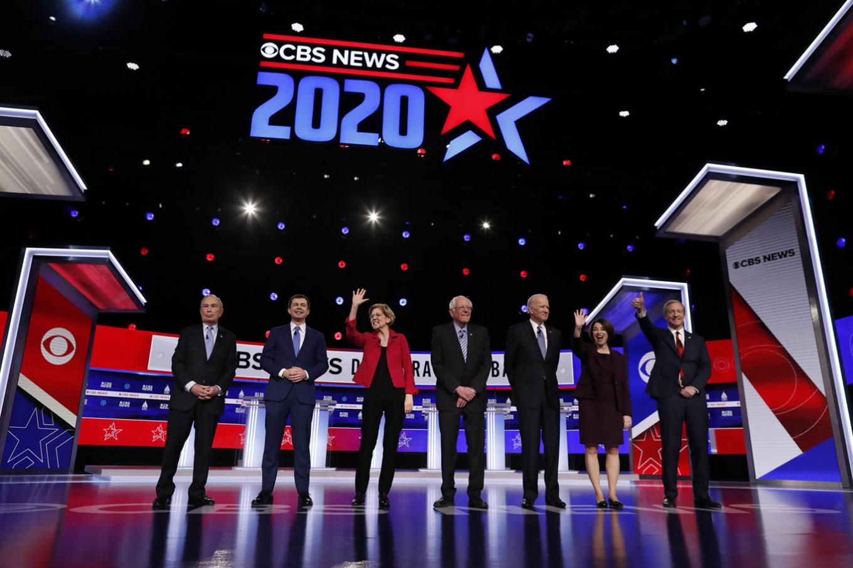 Raucous Democratic debate yields no clear challenger to Sanders