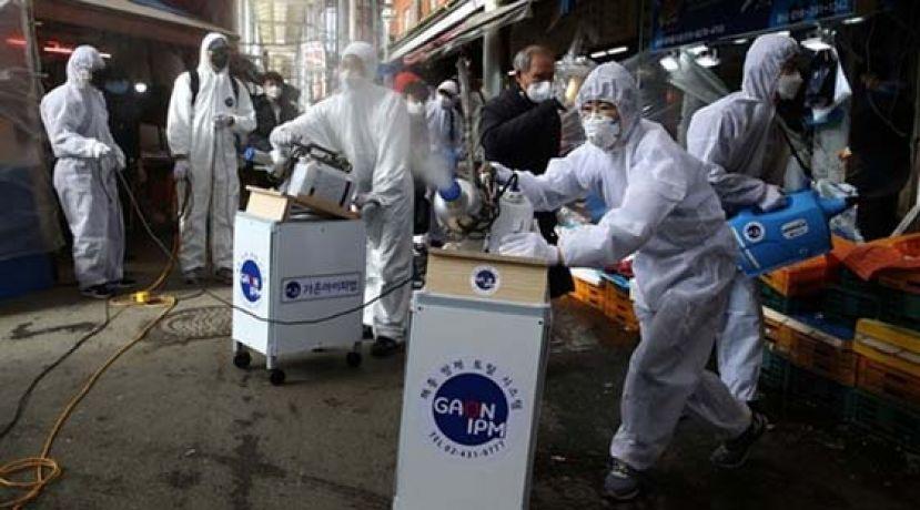 韩国暴增334确诊至1595宗 美韩军演延期