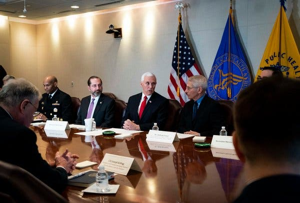 Pence Will Control All Coronavirus Messaging From Health Officials
