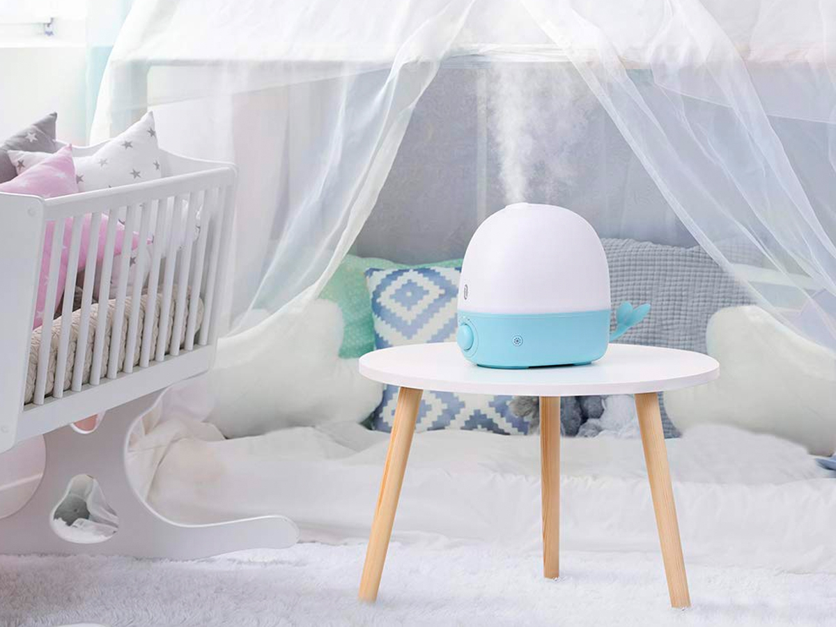 A humidifier is a must when illnesses hit your home — this whale-shaped one keeps my daughter comfortable during winter months and doubles as a night light