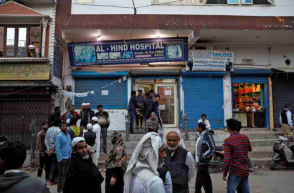 A small Delhi hospital overwhelmed by wave of violence