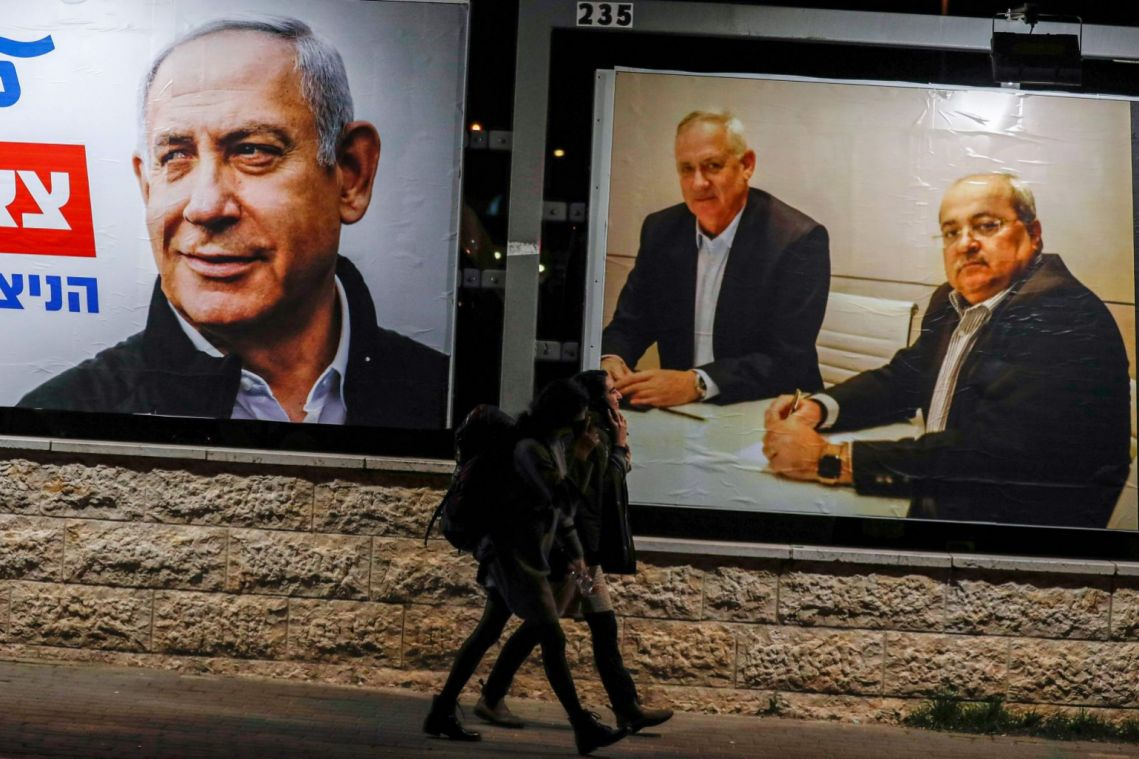 Netanyahu, Gantz neck and neck as Israel election campaign reaches climax