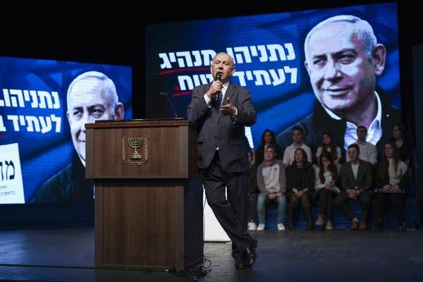 Israeli Election Gives Edge to Netanyahu, Exit Polls Say