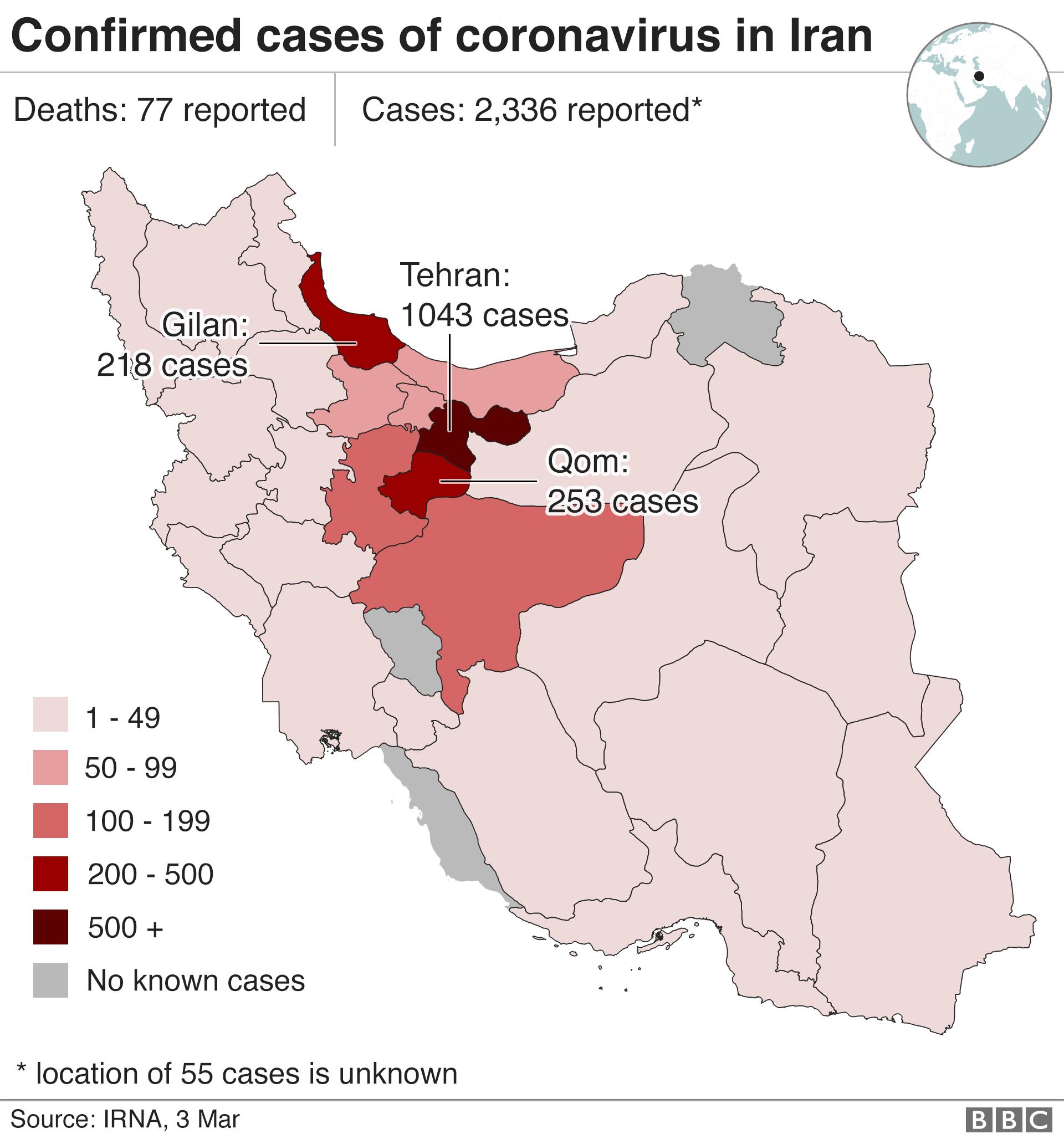 Coronavirus: Iran temporarily frees 54,000 prisoners to combat spread
