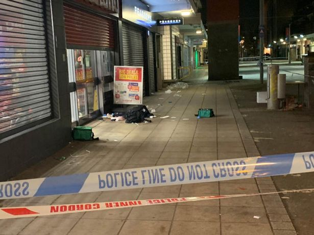 Shadwell stabbing: Bloody scenes after two knifed in fight outside Iceland