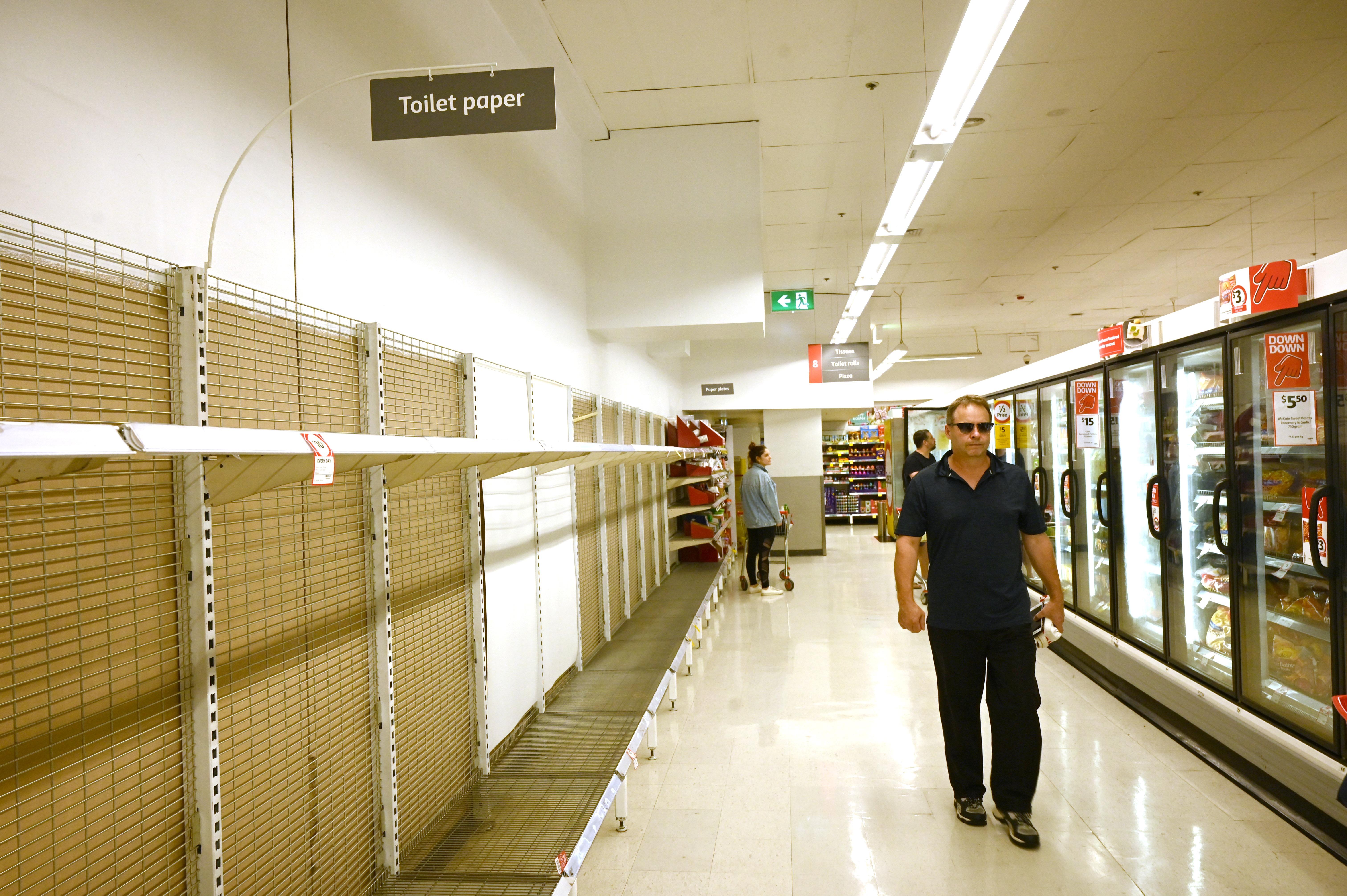 【冠状病毒19】澳洲市民抢购生活物资 超市限购卫生纸数量