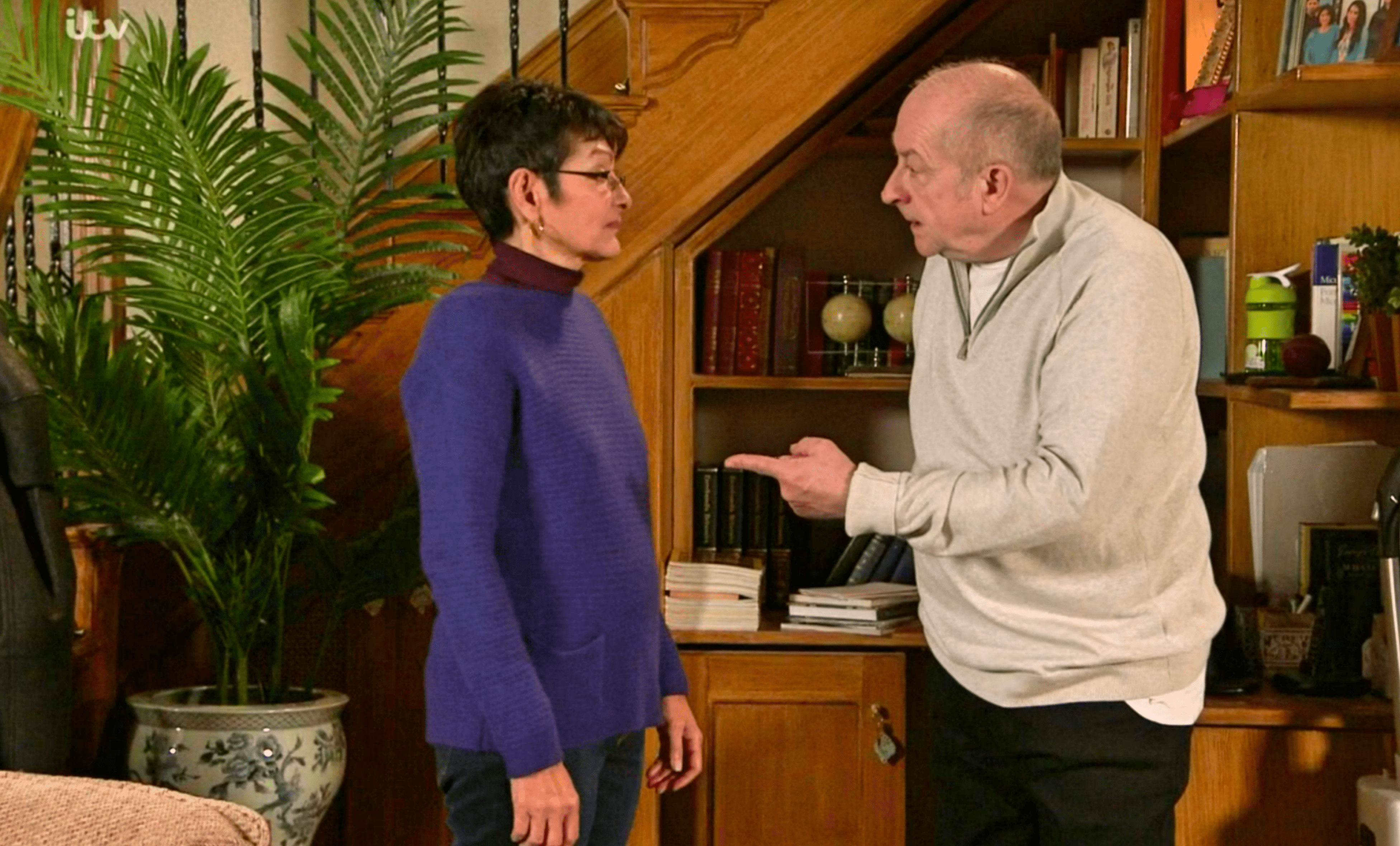 What is Clare's Law as Yasmeen calls police on Geoff in Coronation Street?
