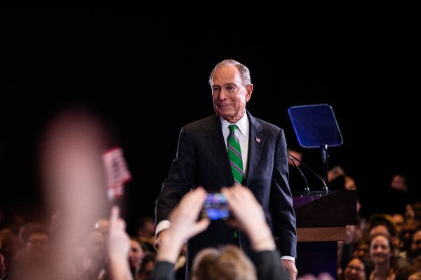 Bloomberg Greets Public Failure With Public Emotion. He's Not Used to Either.
