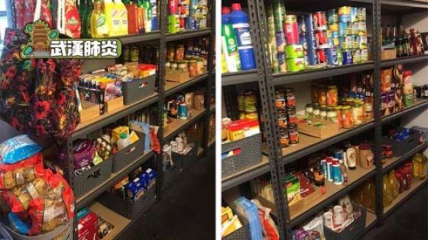 """澳洲阿妈展示""""战略储备"""" 食物日用品堆满架毋惧抢购潮"""