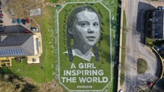 International Women's Day 2020: Giant Greta Thunberg portrait unveiled