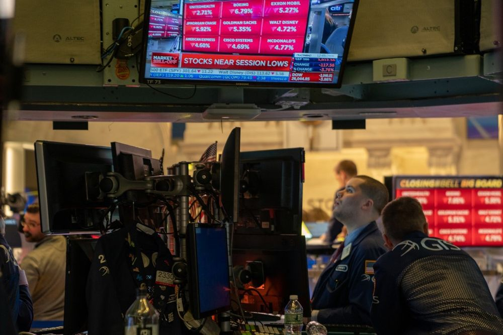 Global stocks and oil fall with eyes on US stimulus