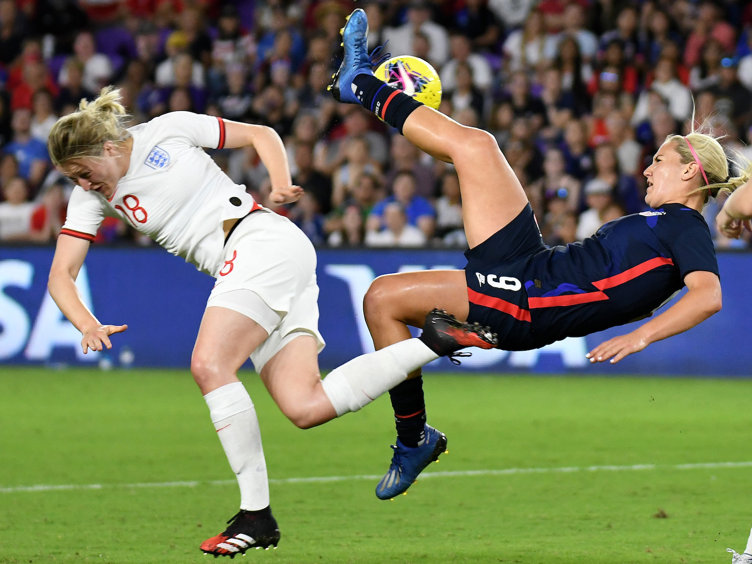 Nutmegs, hair pulling, and a spectacular golazo: the USWNT's first big test before the 2020 Olympics had it all