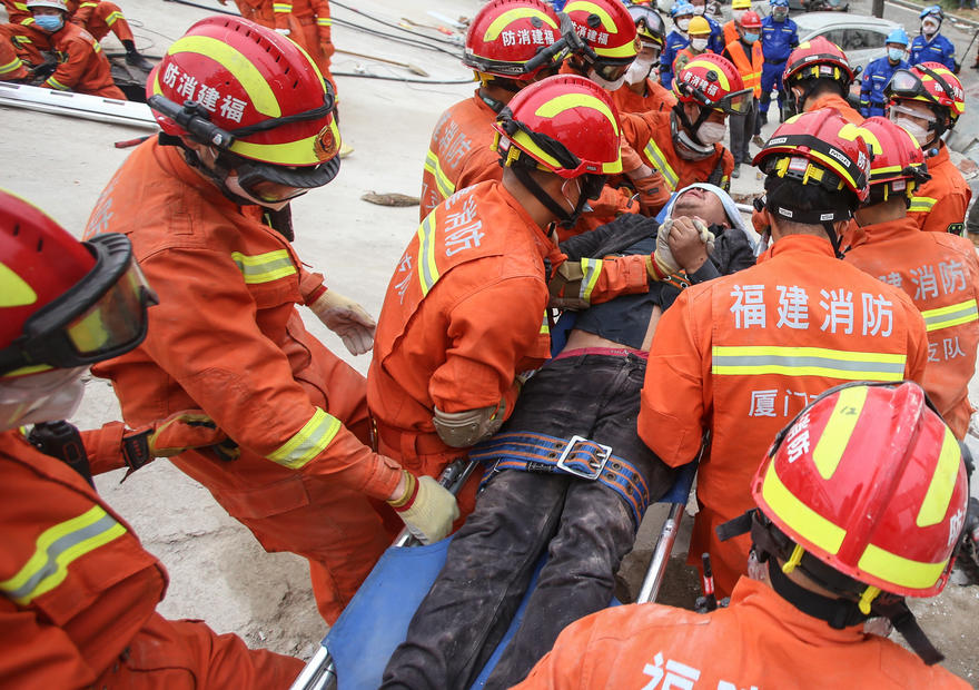 Four confirmed dead from collapsed China hotel used as quarantine site for Covid-19