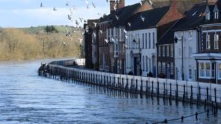 Prime Minister Boris Johnson visits flood-hit Bewdley
