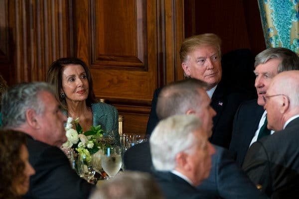 Trump Assails Pelosi as He Opts to Skip Bipartisan St. Patrick's Day Lunch