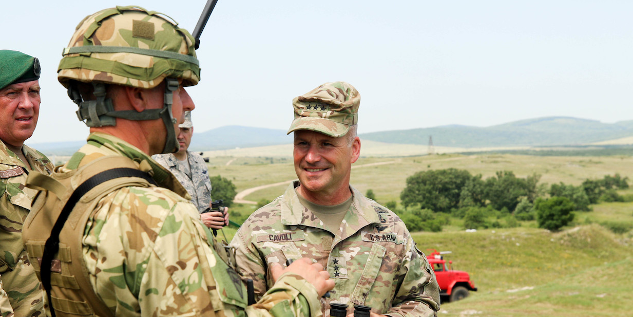 The Army general in charge of US soldiers in Europe may have been exposed to the coronavirus
