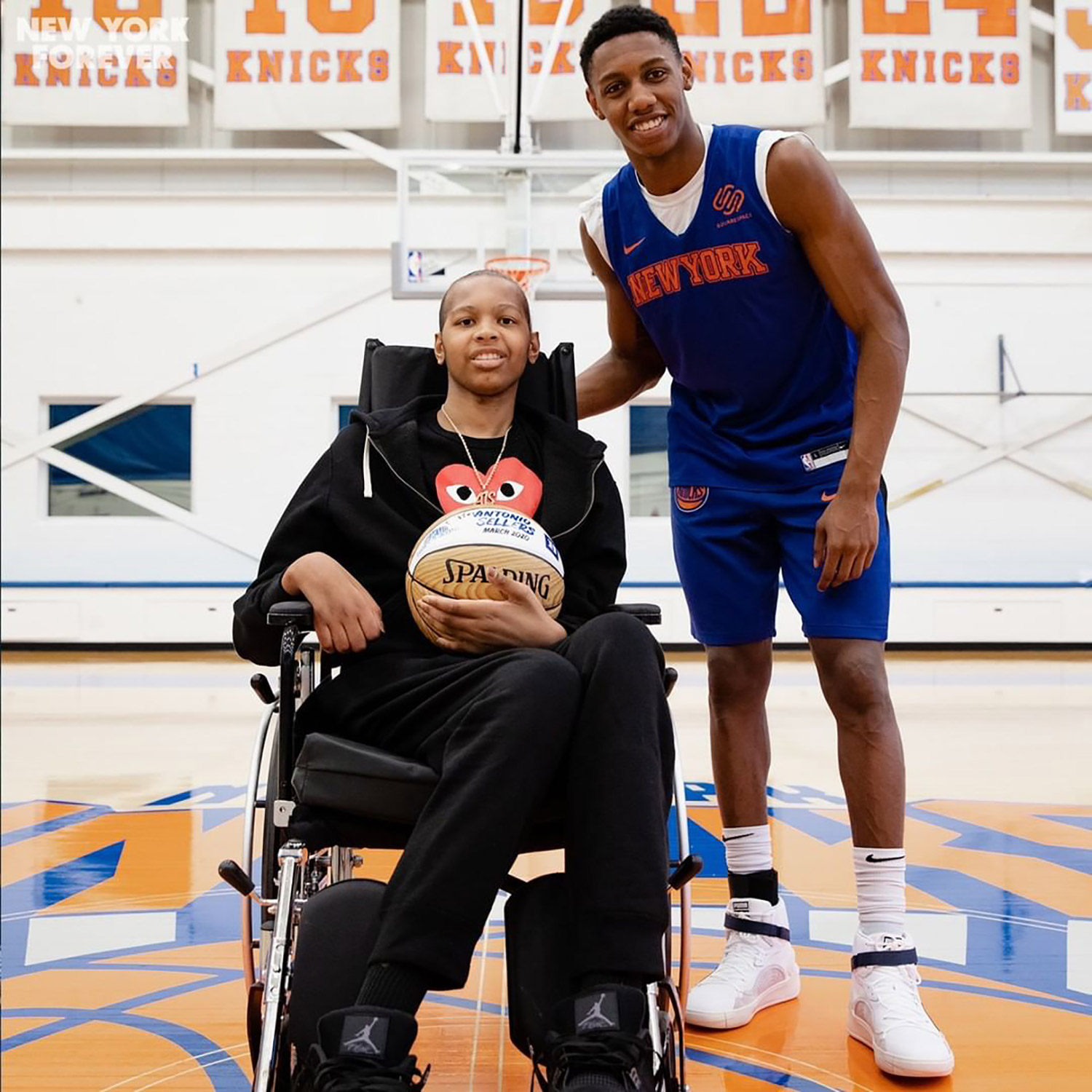 Teen Basketball Star Diagnosed with Brain Tumor Meets His Duke University Hero, RJ Barrett