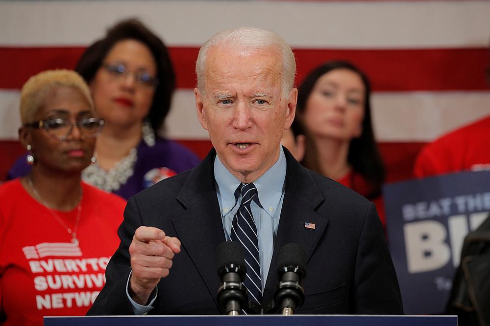 Biden projected to sweep Michigan in a major blow to Sanders