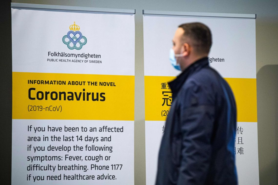 Sweden reports first death in coronavirus outbreak