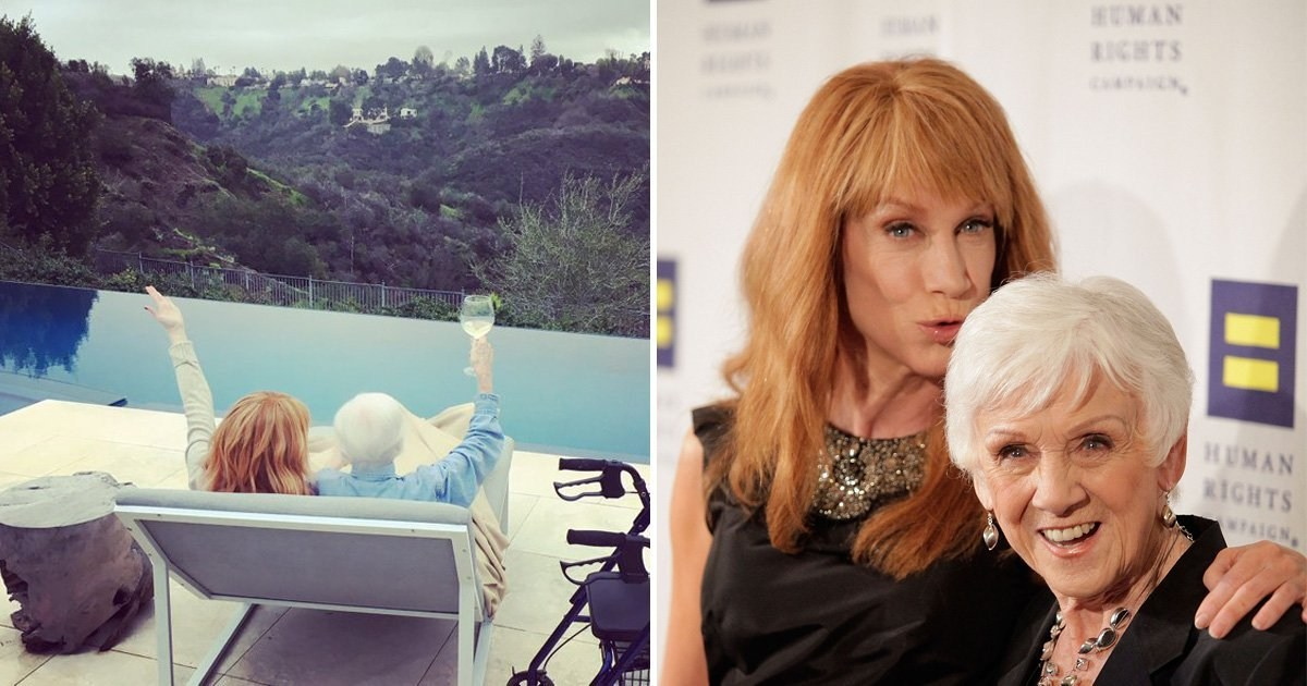Kathy Griffin's mother Maggie dies aged 99 as Chrissy Teigen and Selma Blair pay tribute