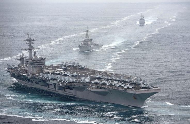 """美军""""罗斯福""""号航母近300名船员新冠病毒检测呈阳性"""