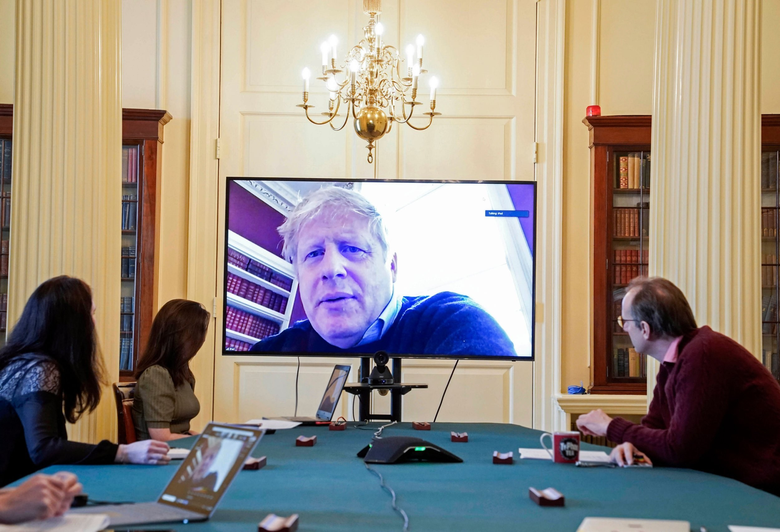 Boris leads coronavirus battle via video conference after testing positive