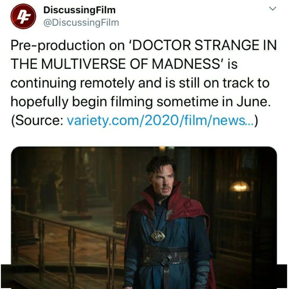 据报道,《奇异博士2》的开拍时间将不受影响!