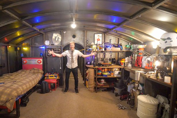 Man builds coronavirus self-isolation bunker complete with Sky TV, kitchen and drum kit