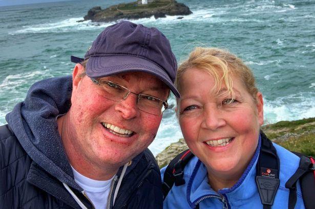 Husband with terminal bowel cancer fears coronavirus means he'll never hug wife again