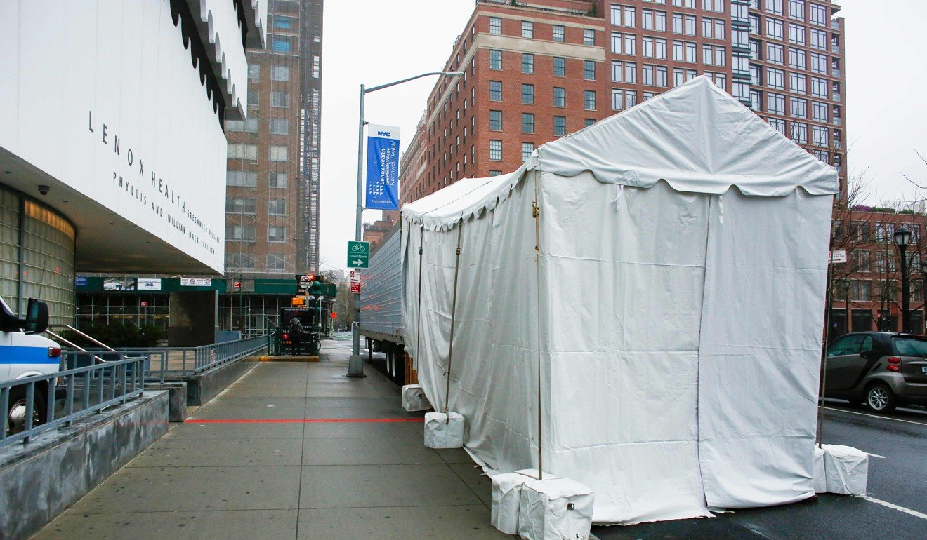 Coronavirus: tent hospital erected in Central Park as New York struggles to cope with sick